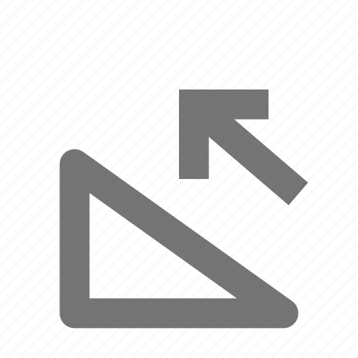 arrow, direction, incline, left, move, pointer, ramp, up icon