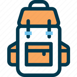 backpack, bag, baggage, travel icon