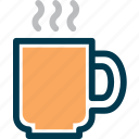 beverage, cafe, cup, drink, hot, wayfind icon
