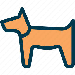 animal, dog, guide-dog, pet icon