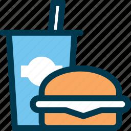 burger, drink, eat, fastfood, food, wayfind icon