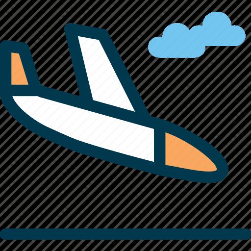 aircraft, airport, landing, plane, wayfind icon