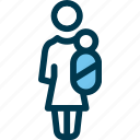 child, family, female, kid, mother, wayfind icon