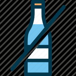 bottle, drink, no drink, prohibited, wayfind icon