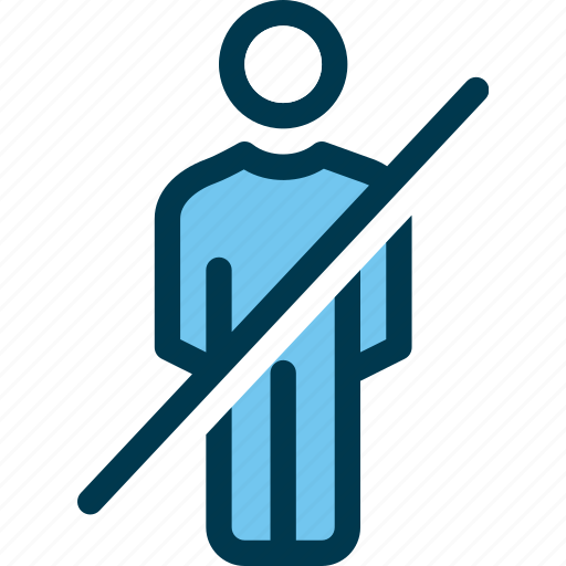 male, man, no entry, prohibited, wayfind icon