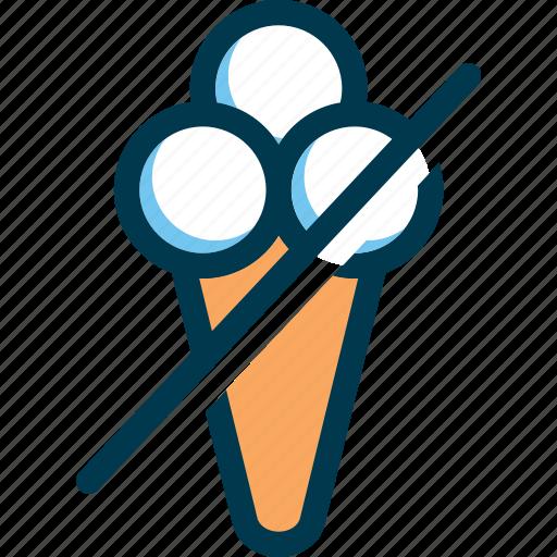 eating, icecream, no icecream, prohibited, wayfind icon