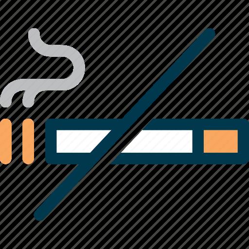 cigarette, no smoking, prohibited, smoke, smoking, wayfind icon