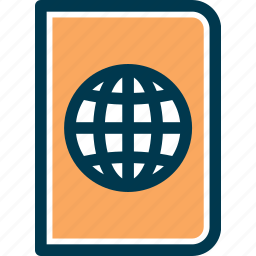 document, pass, passport, travel icon