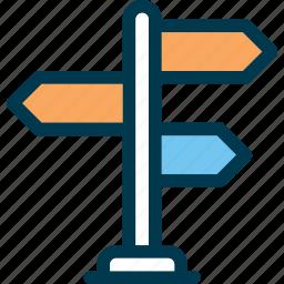 arrow, direction, road, sign, way, wayfind icon