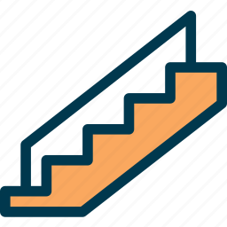 downstairs, stair, stairs, upstairs, wayfind icon