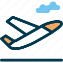 air, aircraft, cloud, plane, sky, tackoff, wayfind icon