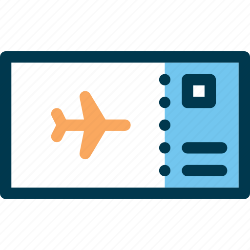 airport, boarding, fly, pass, plane, ticket icon