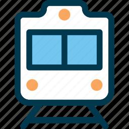 metro, rail, rail road, train, transport, travel, wayfind icon