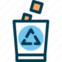 can, garbage, recycling, trash icon