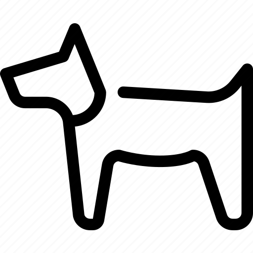 Pet, guide-dog, dog, animal icon