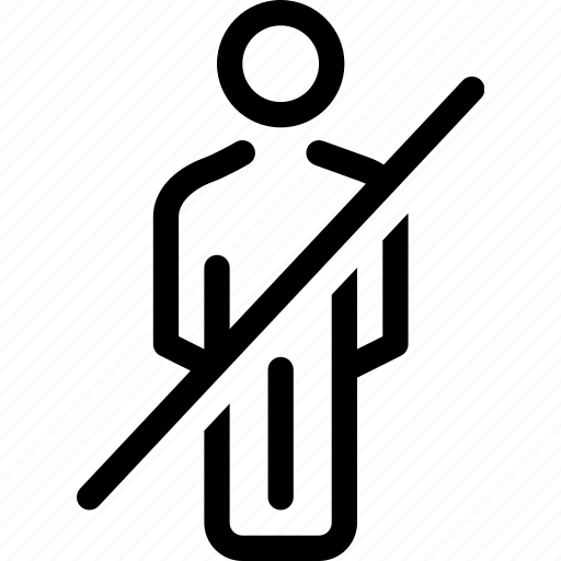 gent, male, man, no entry, prohibited icon