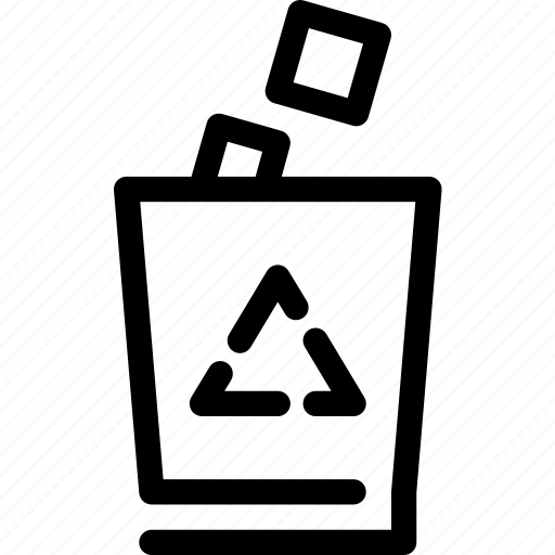 can, garbage, recycle, recycling, trash, wayfind icon