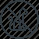 allowed, animals, find, no, sign, wayfinding icon