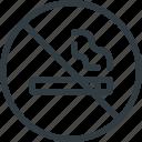 find, no, sign, smoking, wayfinding icon