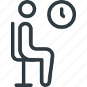 find, room, sign, waiting, wayfinding icon