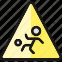 family, child, play, ball, warning