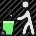 garbage, bin, throw