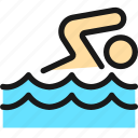 swimming, pool, person