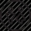bathroom, person, restroom, room, toilet, water closet, wc icon