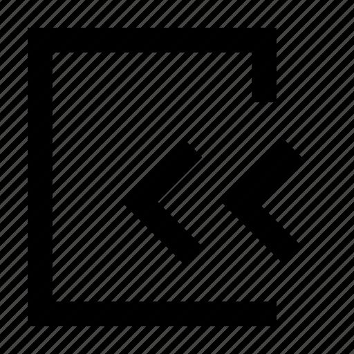 exit, left, way, wayfind icon