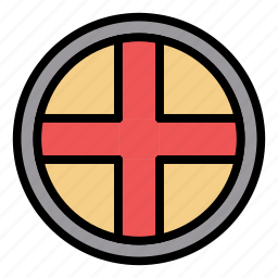 medieval, old, protection, round, shield, war, weapon icon