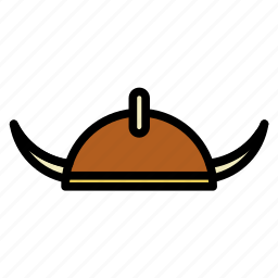 hat, helmet, medieval, old, shield, viking, weapons icon