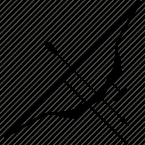arrow, bow, weapon icon