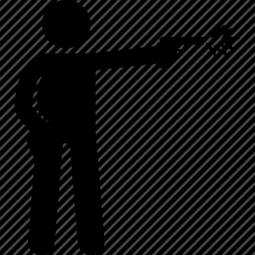 gun, man, pistol, shoot, shot icon