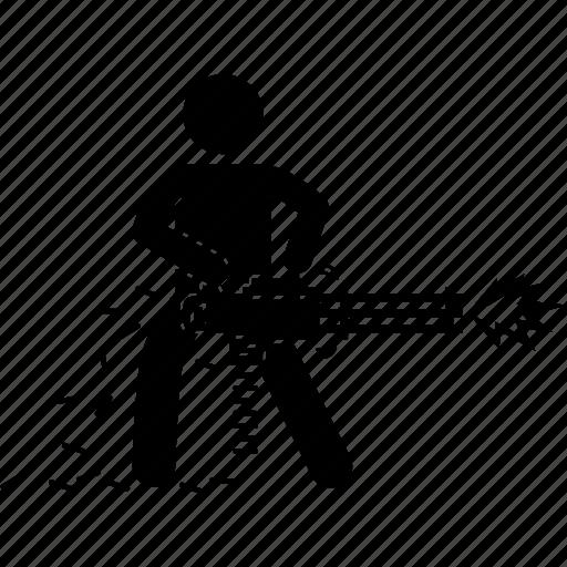 chain, gun icon