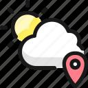 weather, app, sun, cloud, location