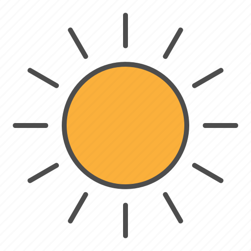 clear, day, hovytech, summer, sun, sunny, weather icon