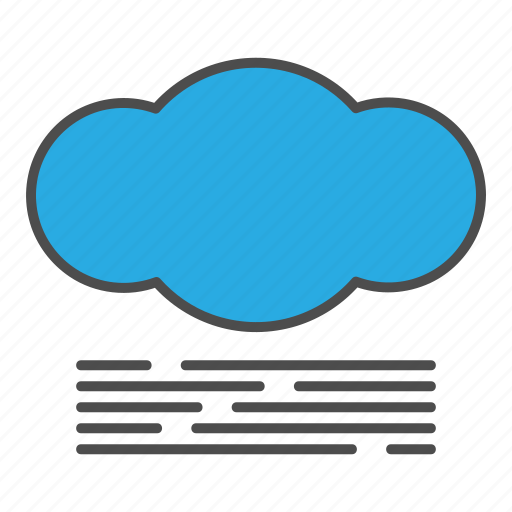 cloud, cloudy, fog, foggy, hovytech, mist, weather icon