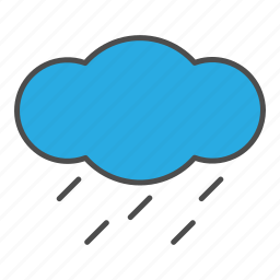cloud, cloudy, hovytech, rain, shower, water, weather icon