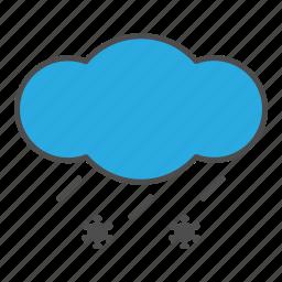 cloud, hovytech, ice, rain, sleet, snow, weather icon