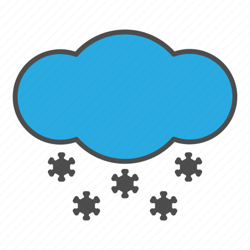 flake, hovytech, ice, rain, snow, storm, weather icon