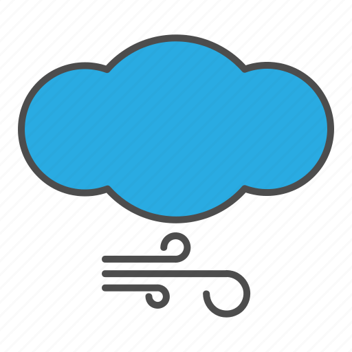 cloud, cloudy, hovytech, storm, weather, wind, windy icon