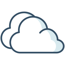 clouds, overcast, weather, winter icon