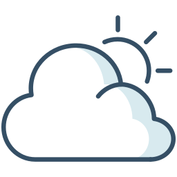cloud, summer, sun, weather icon