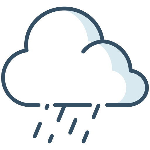 cloud, rain, weather, wet icon