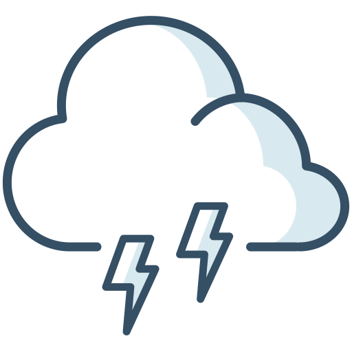 cloud, lightning, storm, thunder, weather icon