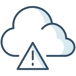 alerts, cloud, danger, weather icon
