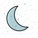 crescent, forecast, moon, weather