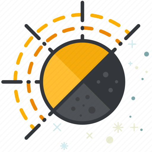 cycle, forecast, moon, sun, weather icon