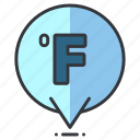 fahrenheit, forecast, heat, temperature, weather icon