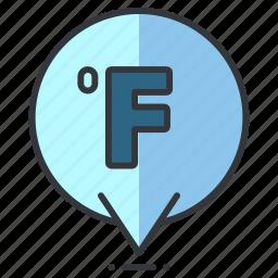 fahrenheit, forecast, heat, temperature, weather icon
